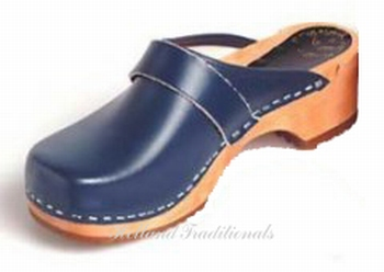 Holland Traditionals klompen classic blauw