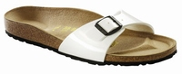 OUTLET! Birkenstock sandalen Madrid Wit lak