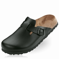 OUTLET! Betula slippers Rock leer zwart